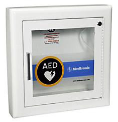 Physio Control LifePak<sup>&reg;</sup> AED Wall Cabinet with Alarm