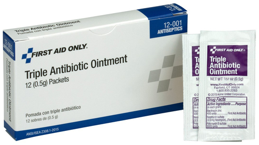 First Aid Only<sup>®</sup> Pac-Kit Triple Antibiotic Ointment Packets