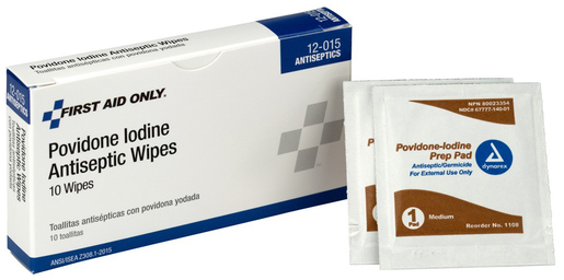 First Aid Only<sup>®</sup> Pac-Kit PVP Iodine Wipes