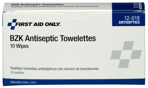 First Aid Only<sup>&reg;</sup> Pac-Kit BZK Antiseptic Towlettes