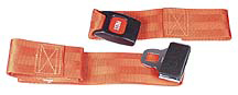 Morrison 2-piece Nylon Straps with Metal Push Button Buckle, Loop Ends, 5'