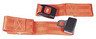 Morrison 2-piece Nylon Straps with Metal Push Button Buckle, Loop Ends, 5', Red
