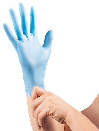 Curaplex<sup>&reg;</sup> TritonGrip VL Nitrile Gloves, Light Blue, Large