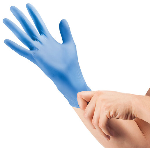 Curaplex<sup>®</sup> TritonGrip SE Nitrile Gloves, Blue, Small