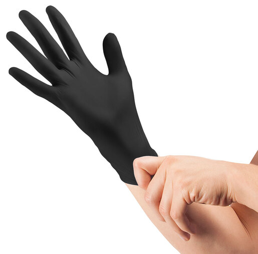 Curaplex<sup>®</sup> TritonGrip TE Nitrile Gloves, Black, Small