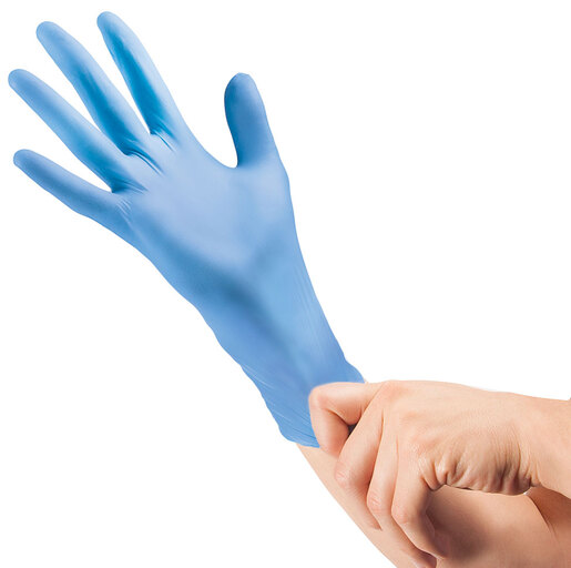 Curaplex<sup>®</sup> TritonGrip EC Nitrile Gloves, Powder-free, Blue, Small