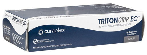 Curaplex<sup>®</sup> TritonGrip EC Nitrile Gloves, Powder-free, Blue