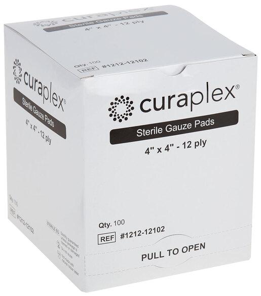 Curaplex<sup>®</sup> Sterile Gauze Pad, Woven, 12-ply, 4&rdquo; x 4&rdquo;