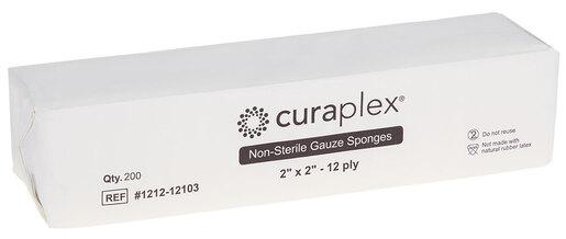"Curaplex<sup>®</sup> Non-Sterile Gauze Sponge, Woven, 12-ply, 2"" x 2"""