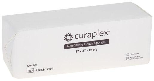 "Curaplex<sup>®</sup> Non-Sterile Gauze Sponge, Woven, 12-ply, 3"" x 3"""