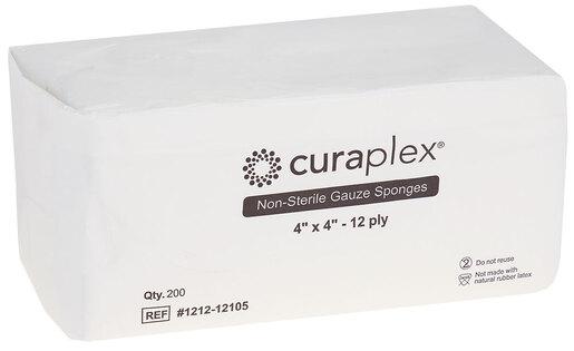 Curaplex<sup>®</sup> Non-Sterile Gauze Sponge, Woven, 12-ply, 4&rdquo; x 4&rdquo;