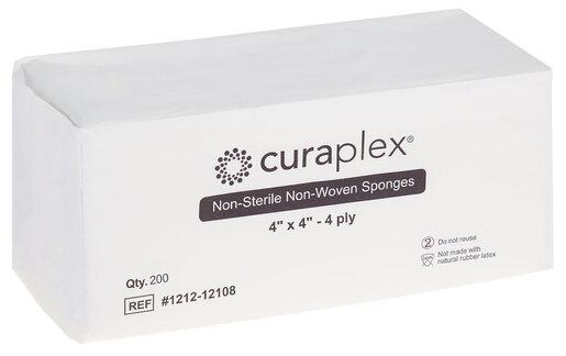 """Curaplex<sup>®</sup> Non-sterile Gauze Sponge, Non-woven, 4-ply, 4"""" x 4"""""""