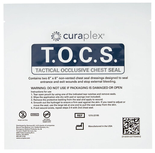 Curaplex<sup>®</sup> Tactical Occlusive Chest Seal (T.O.C.S.)