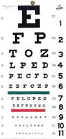 "Good-Lite Snellen Eye Test Chart, 22"" x 11"""