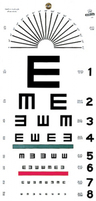 "Illiterate ""E"" Eye Test Chart, 22"" x 11"""
