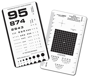 "Good-Lite Pocket Eye Test, 6.4"" x 3.5"""