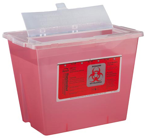 Bemis<sup>®</sup> WallSafe<sup>®</sup> Multi-use Sharps Container, 3qt