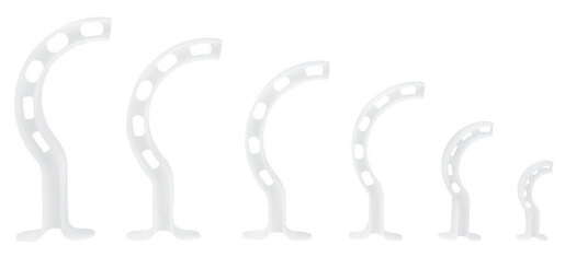 Curaplex<sup>®</sup> Berman Oral Airway 6-pack (40mm, 60mm, 80mm, 90mm, 100mm and 110mm)