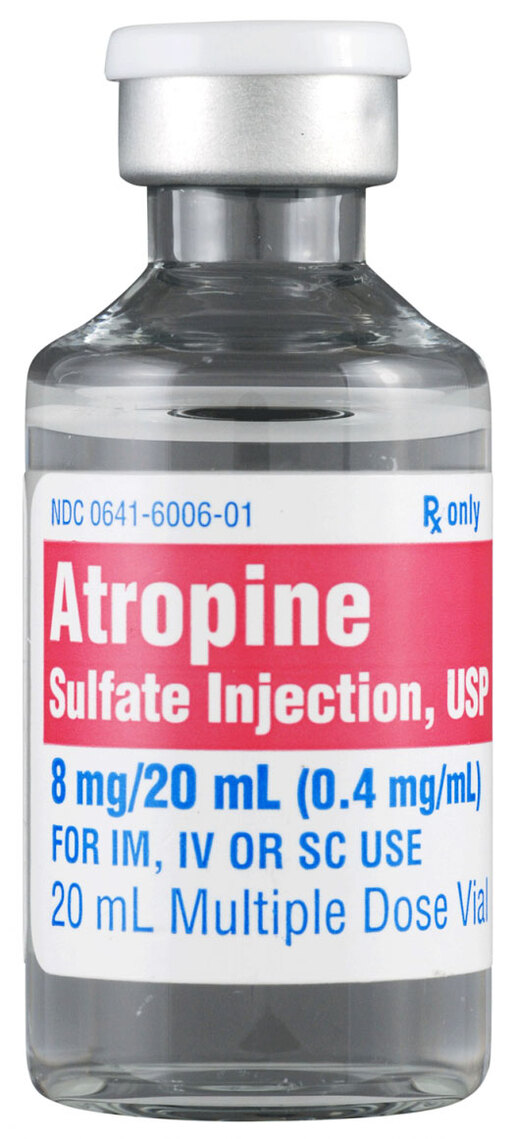 Atropine Sulfate Injection, USP, MDV, 8mg/20mL, 20mL Vial