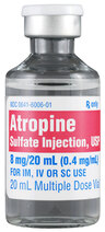Atropine Sulfate Injection, USP, Multiple Dose Vial, 8mg/20mL, 20mL Vial, Each