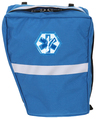 R&B EMS Bicycle AED Pannier, O2 BVM Left Side, Royal Blue