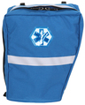 R&B EMS Bicycle AED Pannier, O2 BVM Right Side, Royal Blue