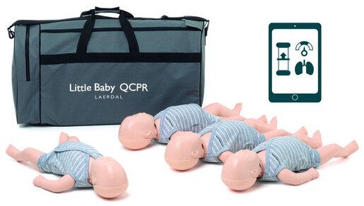 Laerdal Little Baby QCPR, Light Skin Manikins, 4-pack