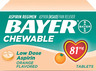 Bayer Children's Aspirin, Orange, 81mg, 36/bottle