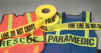 "Barricade Tape, ""Fire Line Do Not Cross"", 3"" x 1000'"