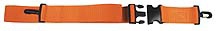 Morrison 2-piece Disposable Polypropylene Straps with Plastic Side Release Buckle, Speed Clip End, 5', Orange