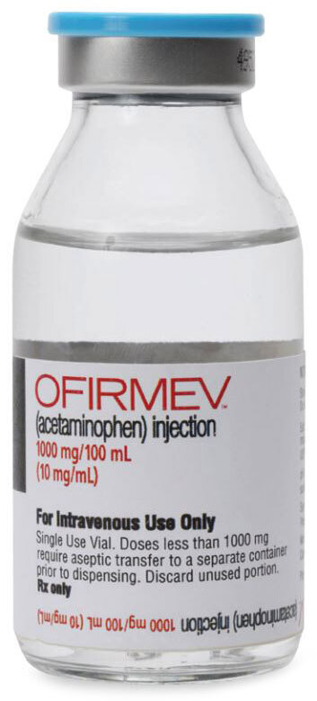 Ofirmev (Acetaminophen), 10mg/mL, 100mL Vial