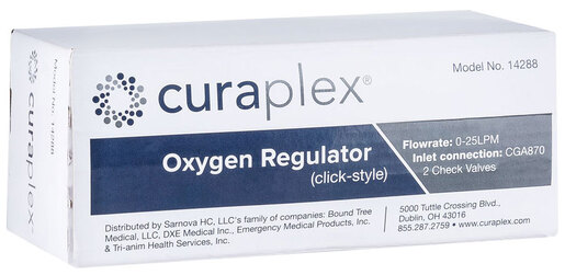 Curaplex<sup>&reg;</sup> All Brass O2 Regulator