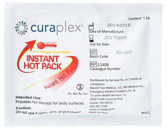 Curaplex<sup>®</sup> Instant Hot Pack, Large, 6.69&rdquo; x 7.5&rdquo;