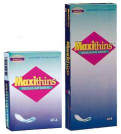 Maxithins<sup>&reg;</sup> Sanitary Napkins, 4 1/4&rdquo; x 3&rdquo; x 1&rdquo;
