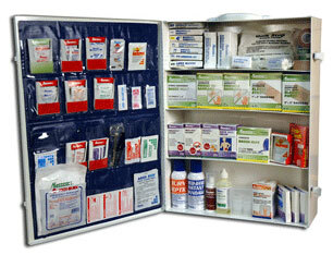 Industrial First Aid Cabinet with Supplies, Large