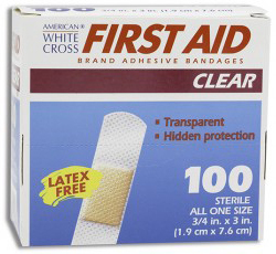 DUKAL American<sup>®</sup> White Cross Clear Adhesive Bandages