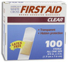 DUKAL American<sup>&reg;</sup> White Cross Clear Adhesive Bandages, 1&rdquo; x 3&rdquo;
