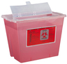 Bemis Multi-use Sharps Container, 5.4qt  Wall Safe System, Transparent Red