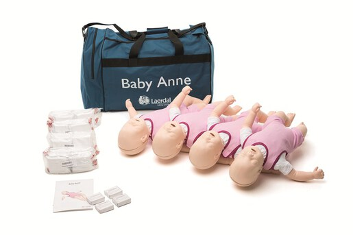 Laerdal Baby Anne CPR Trainer, Infant, 4-pack