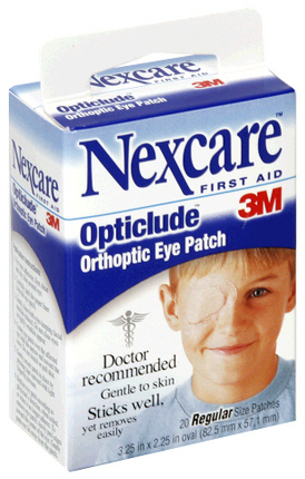 3M<sup>™</sup> Nexcare<sup>™</sup> Opticlude Orthoptic Eye Patches