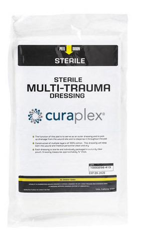 Curaplex<sup>&reg;</sup> Multi-Trauma Dressing, 12&rdquo; x 30&rdquo;
