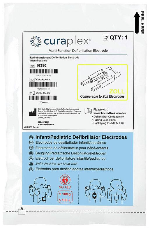 Curaplex<sup>&reg;</sup> Multi-Function Defibrillator Electrodes, Zoll Compatible, Pediatric