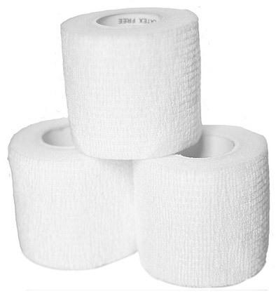 Curaplex<sup>®</sup> Cohesive Bandage, 5yd, White, 3&rdquo;