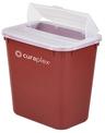 Curaplex<sup>®</sup> Sharps Container, 8qt, Flat Lid