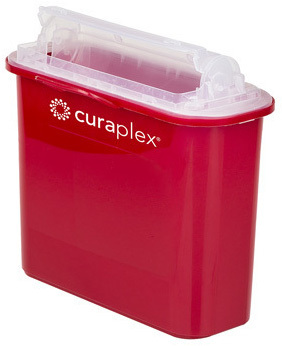Curaplex<sup>®</sup> Sharps Container, 5.4qt, Mailbox/Rotating Lid
