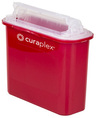 Curaplex<sup>®</sup> Sharps Container, 5.4qt, Mailbox/Rotating Lid