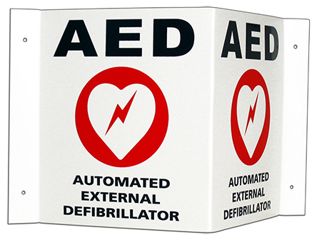 Zoll Wall Sign Kit and Decals for AED