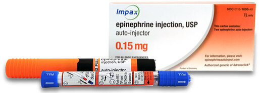 Epinephrine Auto-Injector, 2-pack, Child (33-66lb), 0.15mg