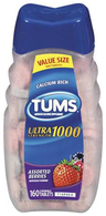 TUMS<sup>&reg;</sup> Ultra Strength Chewable Tablets, Assorted Berry Flavor, 100/bottle