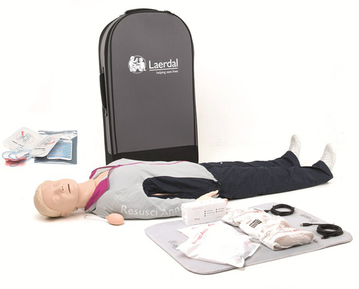 Laerdal Resusci Anne<sup>®</sup> QCPR, Rechargeable (In Trolley Case)